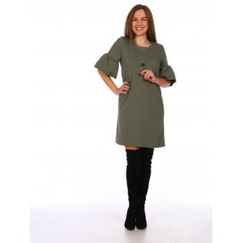 Платье Валли ( оливковое )