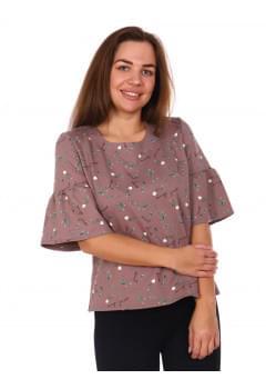 Блуза Каприз,коричневый