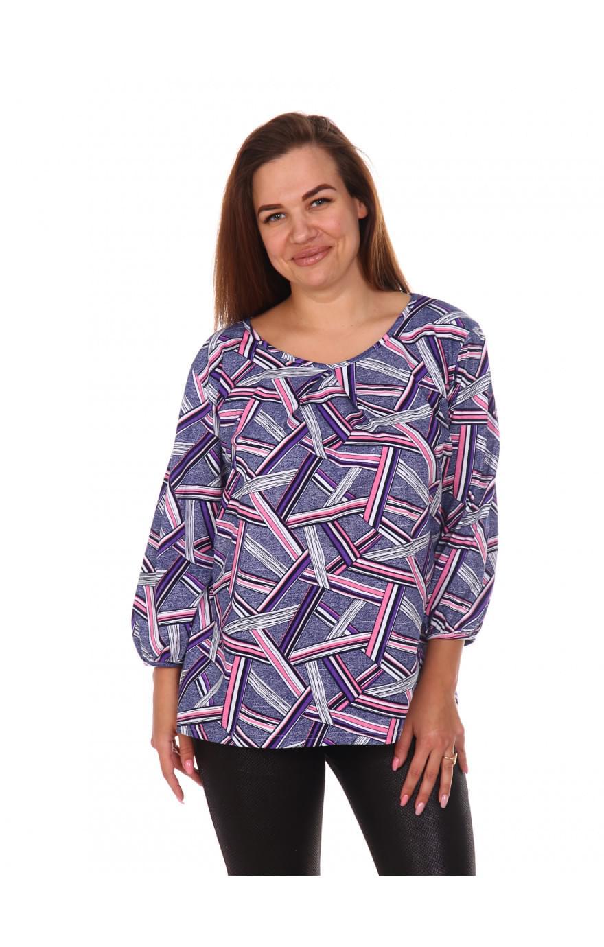 Блуза Вера,фиолетовая